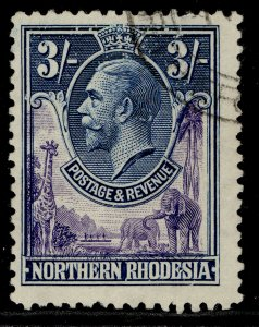 NORTHERN RHODESIA GV SG13, 3s violet & blue, FINE USED. Cat £28.