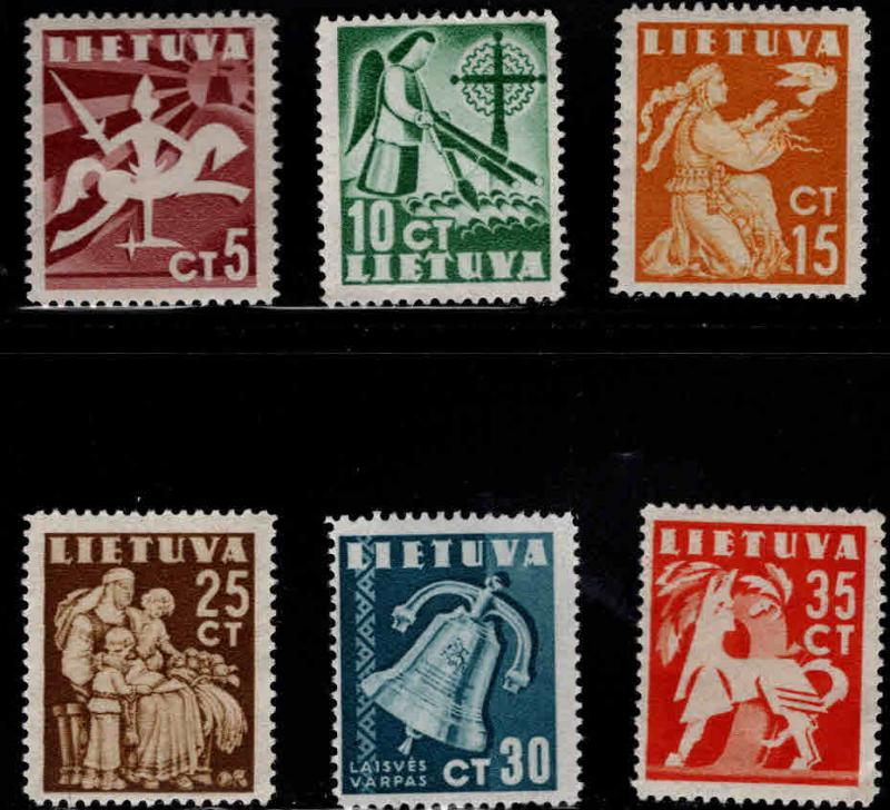 LITHUANIA Scott 317-322 MNH** set