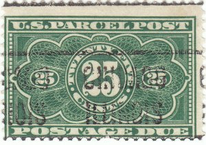 Scott #JQ5 - 25c Dark Green - Used