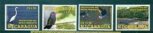 Nicaragua - Sc# 2472-5. 2007 Birds. MNH. $7.00.