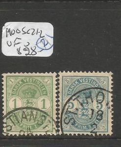Danish West Indies 1900 SC 21-2 VFU (4cqq)