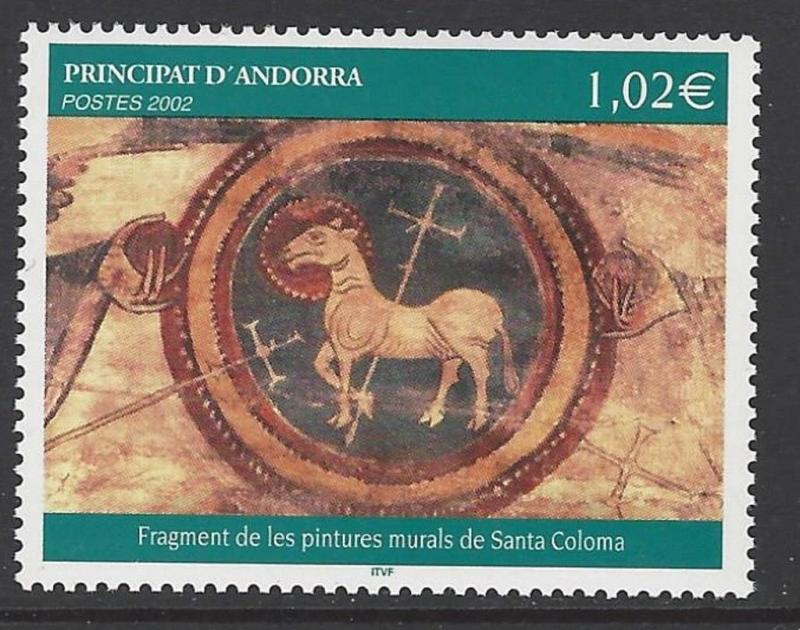 Andorra French 2002 Wall Painting VF MNH (564)