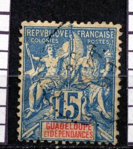 GUADELOUPE, yr.1900: NAVIGATION & COMMERCE  , #34   ,U