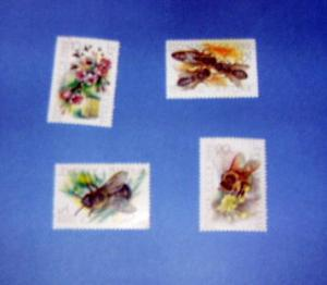 Russia - 5771 - 74 , MNH Set....Honeybees. SCV - $1.70