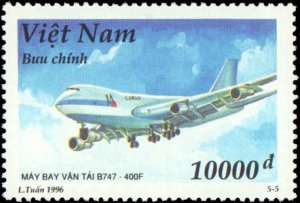 Vietnam #2714-2718, Complete Set(5), 1996, Aviation - Airplanes, Never Hinged