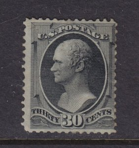 154 Rare mint hinged dist. original gum with nice color cv $ 7500 ! see pic !
