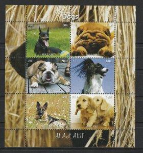 Malawi MNH S/S  Dogs 2011