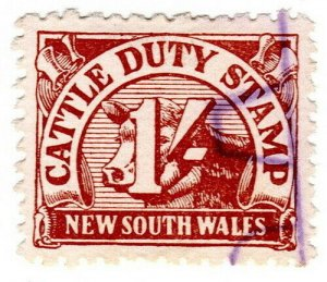 (I.B) Australia - NSW Revenue : Cattle Duty 1/-