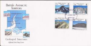 British Antarctic Territory Scott 231-234 Unaddressed.