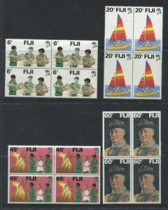 Fiji - Scott 458-461 - General Issue - 1982 - MNH -  Set of 4 X Block of 4 Stamp