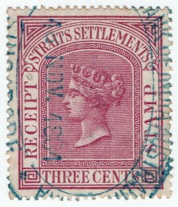 (I.B) Malaya (Straits Settlements) Revenue : Receipt 3c (1880)
