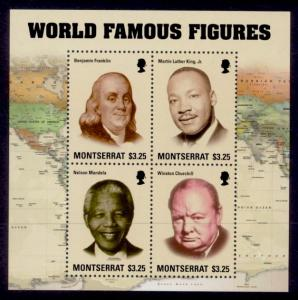 Montserrat Sc# 1353 MNH Famous World Figures (M/S)