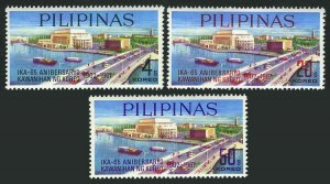 Philippines 973-975,MNH.Michel 829-831. Manila,Jones bridge,1967.Ships,Cars.