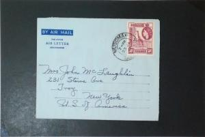 KUT 1961 Aerogramme Cover to USA - Z3492