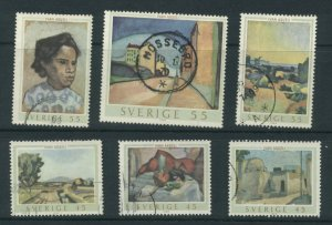 Sweden 821a-f  Used