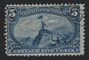 United States USED Scott Number 288  F-VF #P2  - BARNEYS