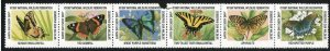 National Wildlife Federation Strip of 6 Diff 1997 Wildlife Stamps  I Combine S/H