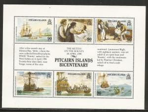 Pitcairn Islands 321 1989 Bounty m/s MNH