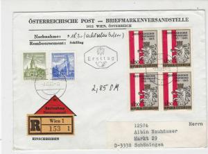 Austria 1965 Registered Wien Cancel FDC Multi Stadtebund Stamps Cover Ref 27516