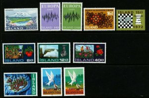Iceland 1972 Cpl year set. Very good. MNH