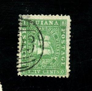 British Guiana #33 Used FVF Cat$80