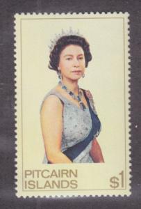 Pitcairn Islands Sc 146 MNH. 1975 $1 QEII definitive, complete set, VF
