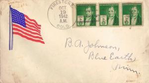 United States Colorado Firestone 1942 4b-bar  Flag Patriotic  Philatelic.