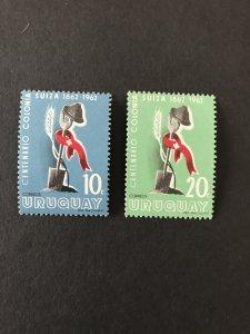 Uruguay 1962 # 689-90, MNH SCV $.50