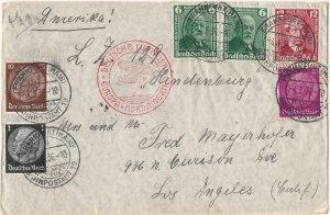 Hindenburg (Zeppelin) 1st Passenger Flight to North America 5/6/36 w/Error stamp
