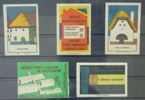 Match Box Labels ! architecture construction project house buildings GN9