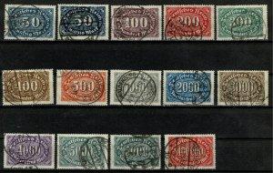 GERMANY 1922-23 50m-100,000m FULL SET+2 SG235-SG246 USED (VFU) Wmk.45 XF/SUPERB
