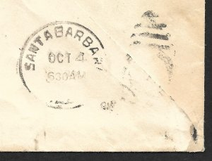 Doyle's_Stamps: California Special D Postal History XF-S #E10 on Cover, CV $200