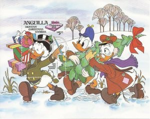 Anguilla 1983 Disney Dickens Christmas Stories Stamp Sheet #556 1P-006