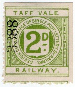 (I.B) Taff Vale Railway : Letter Stamp 2d