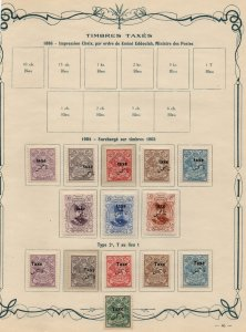 PERSIA/IRAN: 1903-1904 Examples - Ex-Old Time Collection - Album Page (39577)