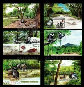 Sri Lanka 2019 birds butterflies monkeys lizards elephants fauna 6 s/s MNH