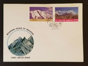 1985 Lahore Pakistan Mountain Peaks Karakoram Himalaya Stamps First Day Cover