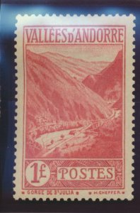 Andorra (French Administration) Stamp Scott #50, Mint Hinged - Free U.S. Ship...