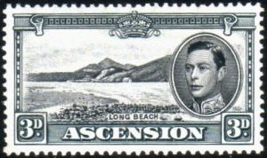 ASCENSION 1938-53 GVI 3d black and grey perf 13 SG42a fine mint............51620