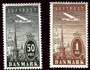 Denmark SC C9 & C10 Mint VF hr   ..Scandinavian sweet spot!!