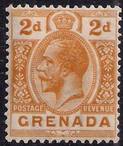 Grenada 1913 KGV 2d Orange MM SG 116 ( L321 )