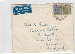 india 1937 to england airmail  stamps cover ref 13207