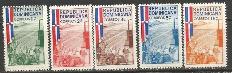 Dominican Republic 565-69 MOG R7-115