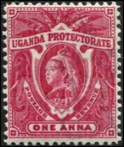 Uganda SC# 69 Victoria 1a MH w/mount