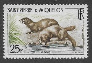 St. Pierre and Miquelon #359 MNH CV$5.25 Mink [81702]