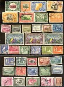ECUADOR 1881-1949 Various Used good condition 49 different postage stamps