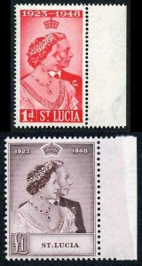 St Lucia 1948 Royal Silver Wedding SG144/5 U/M (MNH)