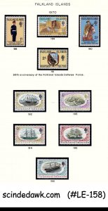 COLLECTION OF FALKLAND ISLANDS STAMPS FROM 1953-1970 - 77V - MINT