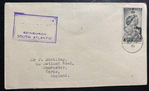 1951 Tristan Da Cunha King George Silver Wedding Cover To Yorks England