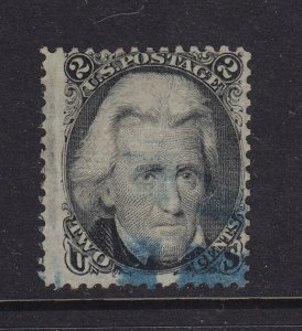 85B F-VF used PF cert .neat blue cancel with nice color cv $ 1100 ! see pic !